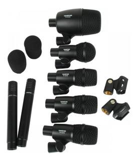 Set De Microfonos Para Bateria Kit Percusion Takstar Dms-7as