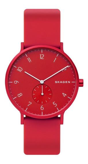 Reloj Unisex Skagen Aaren Kulor Skw6512 Color Rojo