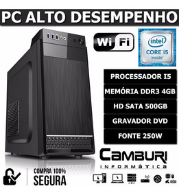 Computador Pc Cpu Intel Core I5 3.10ghz 4gb Hd500gb Dvd Wifi