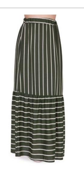 Falda Negra Multicolor #15055 Oi 2019