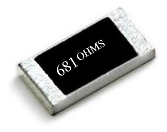 681 Ohms ( Kit C/ 25) Resistor Smd 0805 (2,00mm X 1,2mm)