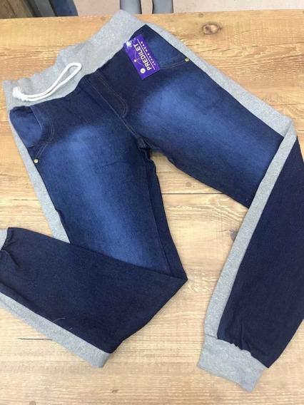 Calça Jeans Com Moletom 46 - 50 Plus Size