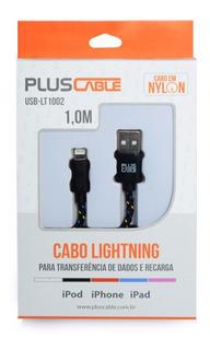 Cabo Usb Lighting iPhone 5/6 Usb-lt1002 Bk 1,0m