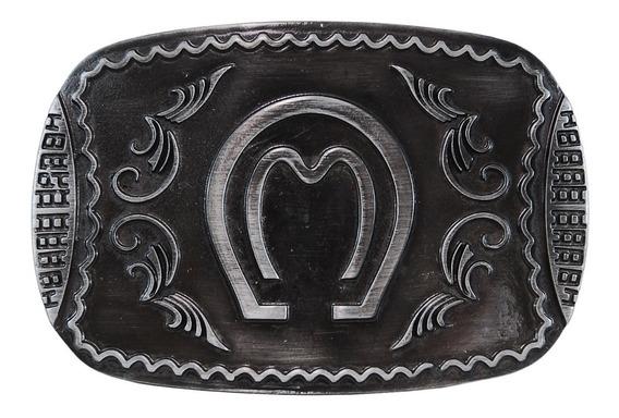 Fivela Mangalarga Marchador Black Escovado Toda Ornamentada