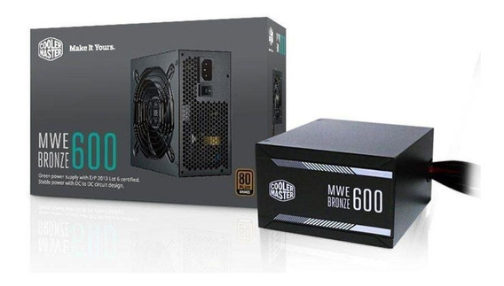 Fonte Mwe 600w 80 Plus Bronze Mpx-6001-acaabwo Cooler Master