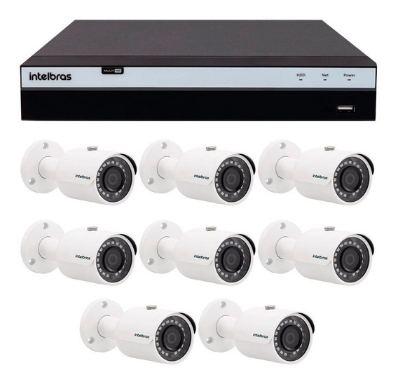 Kit 8 Câmeras De Segurança Full Hd 1080p Intelbras