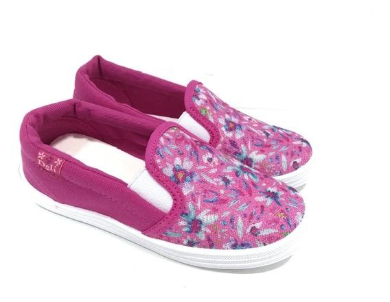 Zapatos Zapatillas Panchas De Lona Niña Nena Con Elastico Verano Moda Del 27 Al 34