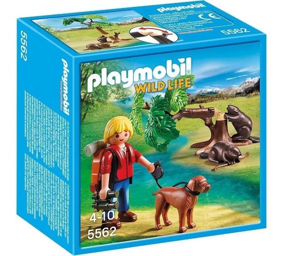 Playmobil 5562 Mochileiro Com Castores Wild Life Geobra