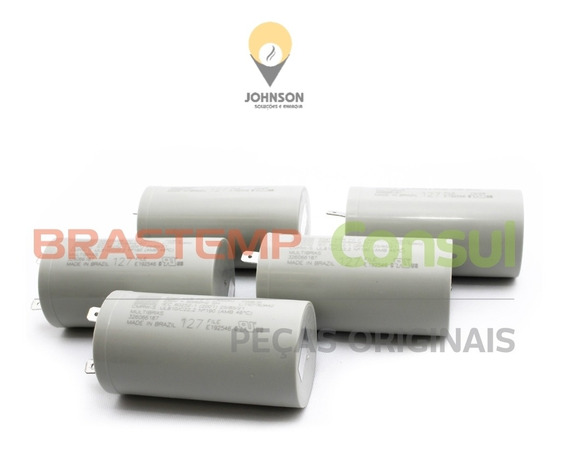 5 Capacitores 45uf +-5% 127v 250v Ac _ 50/60hz