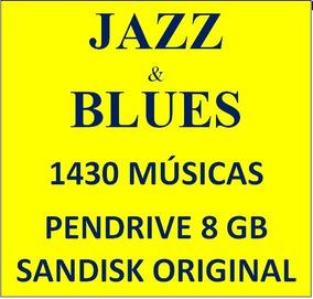Pendrive Jazz & Blues Coletânea 1400 Músicas