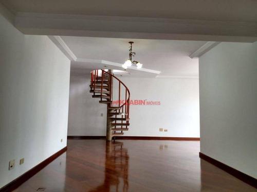 Imagem 1 de 30 de Cobertura Com 3 Dormitórios Para Alugar, 280 M² Por R$ 4.500,00 - Chácara Inglesa - São Paulo/sp - Co0016