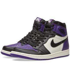 Nike Air Jordan 1 Court Purple 42 10 Novo Frete Grátis