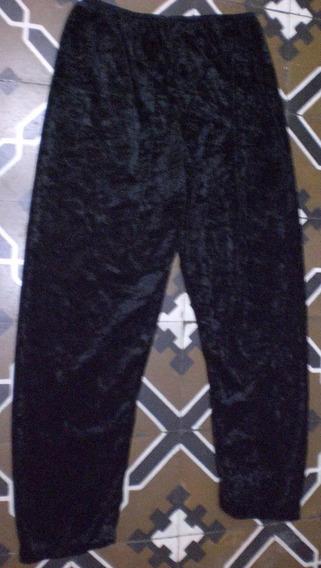 Pantalon De Chifon Talle L. Color Negro