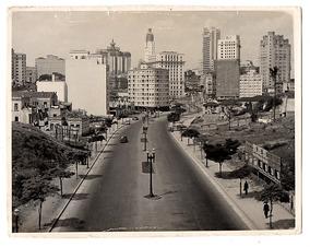 Fotografia Antiga Av 9 De Julho P Bandeira Sao Paulo Anos 40