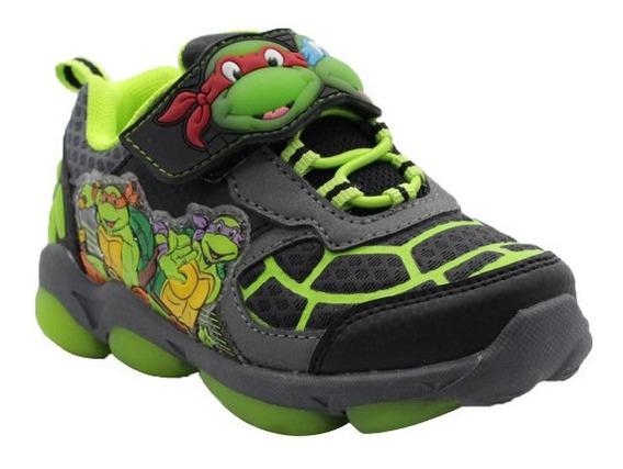 Zapatos Deportivos Luces Tortugas Ninja Niños