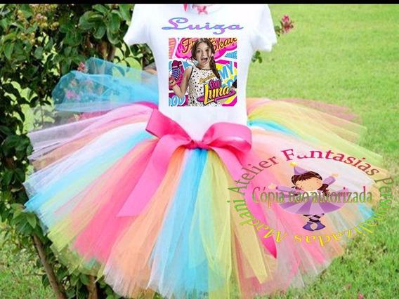 Conjunto Fantasia Roupa Aniversário Infanto Sou Luna 10 A 16