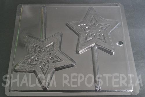 Imagen 1 de 4 de * Molde Paletas De Chocolate 2 Estrellas Copo De Nieve Froz