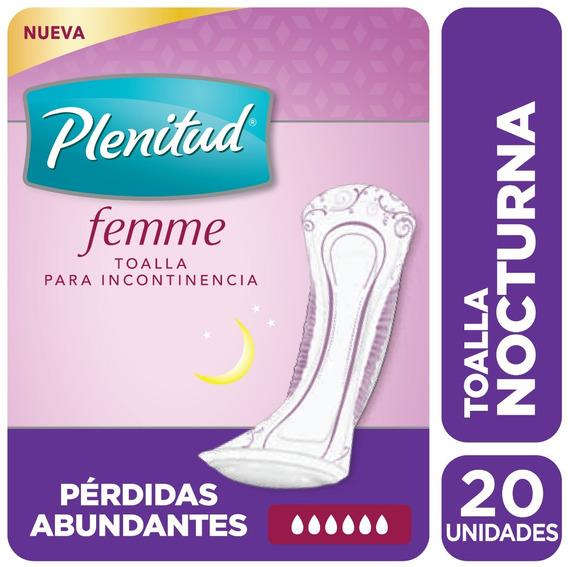 Plenitud Toalla Nocturna Femme X 20 Unidades