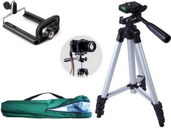 Tripé Universal Fotográfico Canon Nikon 1,30 Mts + Suporte