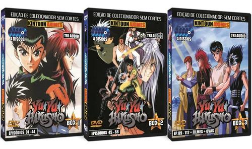 Yu Yu Hakusho Série Completa Em Dvd + 2 Filmes + Ovas