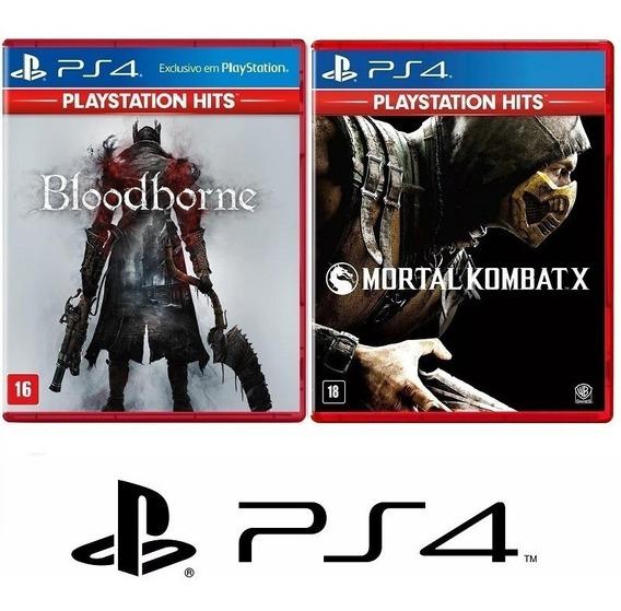 Bloodborne + Mortal Kombat X - Midia Fisica Lacrado - Ps4