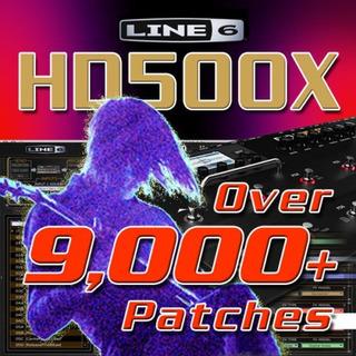 Line 6 Pod Hd500x-parches/presets Enorme Ahorro De Tiempo!