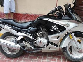 Motocicleta Lan-cxing Lx200-g Negra Con Plateado