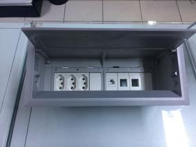 Caixa De Mesa Tomada 8 Blocos Alumínio Open Box Qtmov