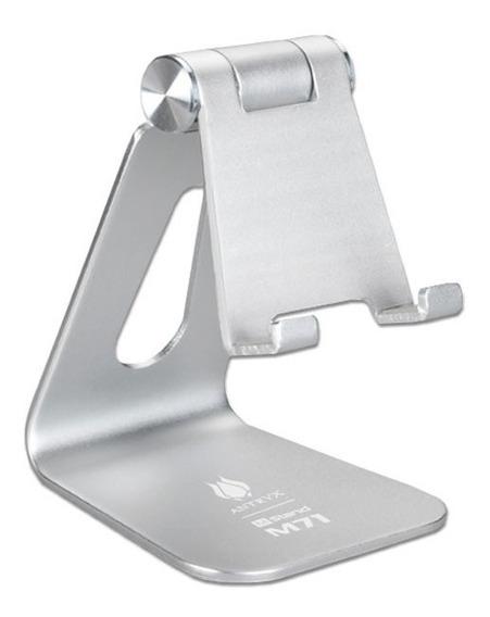 Soporte P/celular & Tablet Antryx M71 Silver, Aluminio