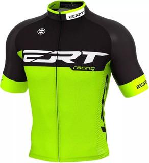 Camisa Ert Elite Racing Verde Preto Ciclismo Mtb + Brinde
