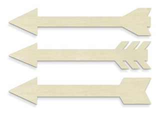 Unfinishedwoodco 300027 Flechas Conjunto De 3