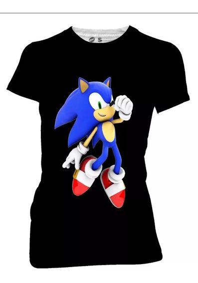 Playera Algodon Poliester Sonic Estampado