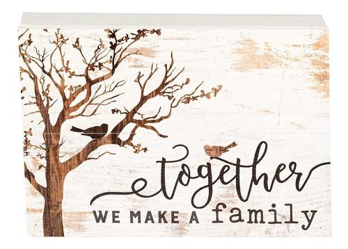 Imagen 1 de 6 de Juntos Podemos Hacer Una Familia Árbol Blanco 10 X 7 Inch Ma