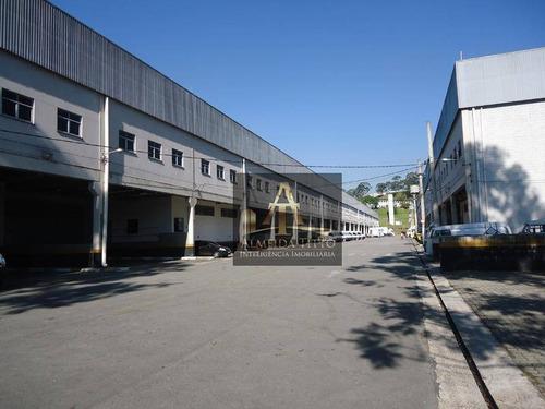 Excelente Galpão Para Locação Em Condomínio Logístico Com 1.298,83 M² Em Barueri/sp  - Confira! - Ga0400