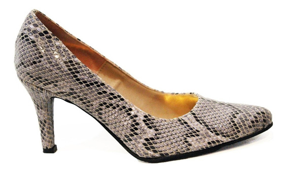 Zapato Stiletto Dama Combinado Art 4/9300 Marca Lorena Bs As