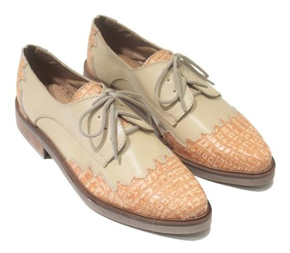 Zapato De Mujer De Cuero Acordonado Osaka