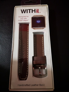 With It Fitbit Blaze Handcrafted Leather Band Correa Blaze