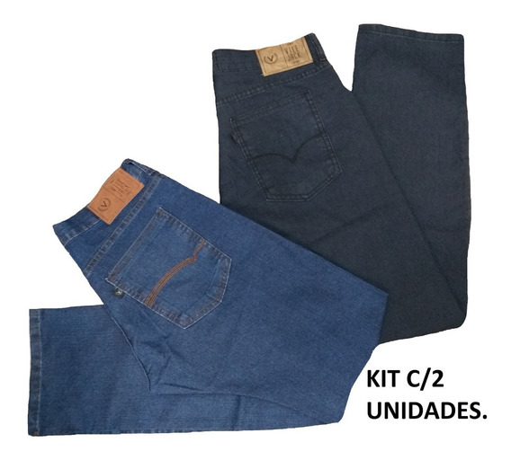 Kit C/ 2 Calças Vilejack Jeans Masculina.