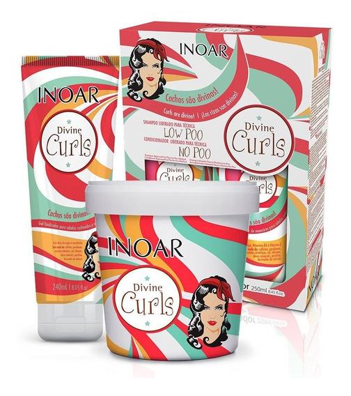 Kit Inoar Divine Curls - Para Cabelos Cacheados 4 Produtos
