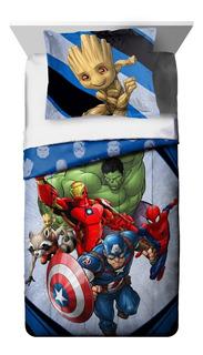 Edredon Reversible Individual Matrimonial Marvel Avengers
