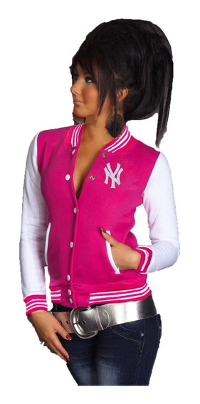 New York Jaqueta College Varsity Americanas Bordadas