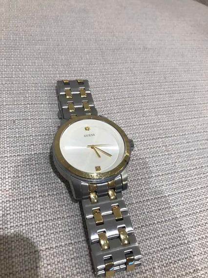 Relógio Guess Feminino Original Perolado Prata E Dourado
