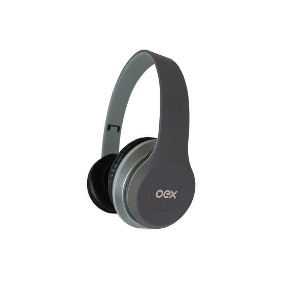 Combo Twin Headset + Fone De Ouvido Hf-100 Cinza Hf100 Oex