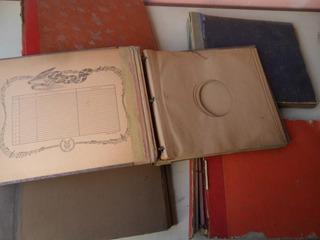Lote 6 Portadisco Album Carpeta Disco Pasta Antiguo Porta