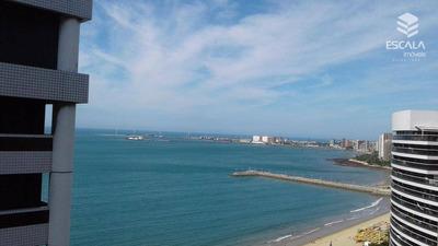 Flat Residencial Para Locação, 2 Quartos. Internet E Tv A Cabo, Vista Mar. - Fl0038