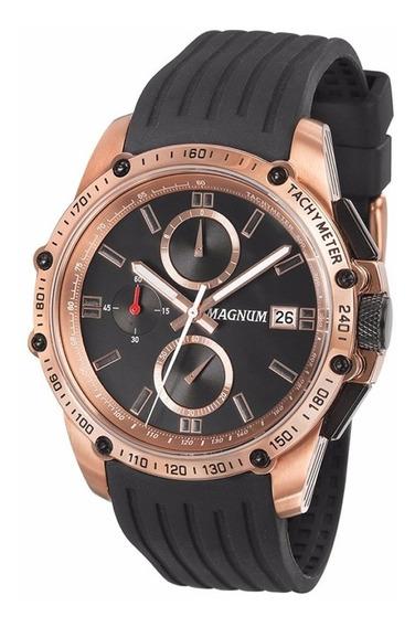 Relógio Magnum Masculino Cronógrafo Ma33568u Rosê