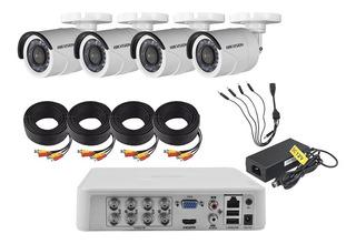Kit Cctv Dvr 8 Canales - 4 Cámaras Hd 720p Hikvision
