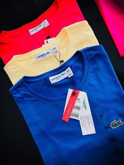 Camiseta Lisa Básica Lacoste Original