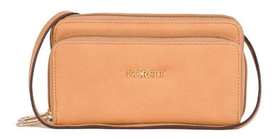 Crossbody Dama Marca Gorett Original Beige Gs17050-e