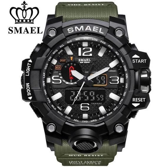 Relógio Masculino Militar Led Esportivo Smael A Prova D